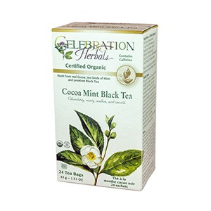 Black Tea with Cocoa Mint