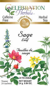 Box of tea bags showing our gold Certified Organic lablel