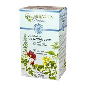 Cranberries with Green Tea