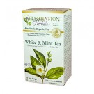 White & Mint Tea